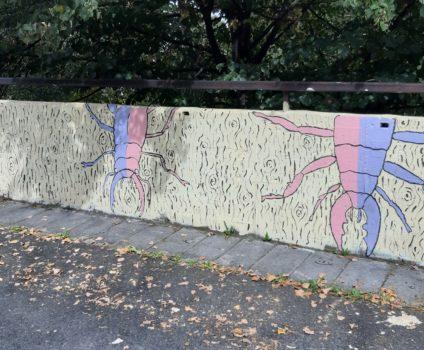 Mural Art před školou FZŠ Trávníčkova
